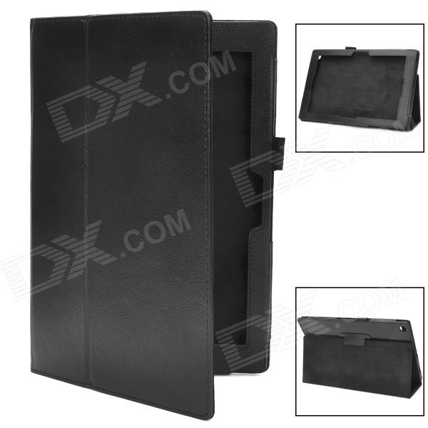 Stylish Protective Lambskin Case for Sony Xperia Tablet Z - Black