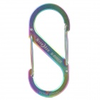 Niteize SB4-03-07 Steel Double Gated Quick Release Buckle / Carabiner / Keyring - Multicolored