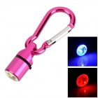 081803 Aluminum Security Tracker w/ LED RGB Light + Carabiner for Pet Dog - Purple + Silver
