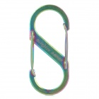 Niteize SB3-03-07 Steel Double Gated Quick Release Buckle / Carabiner / Keyring - Multicolored