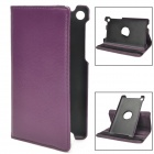 Lychee Grain 360 Degree Rotation Protective PU Leather Case for Google Nexus 7 II - Purple