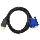 JJBY HDMI 1.4 Male to VGA Male Display Cable - Black + Blue