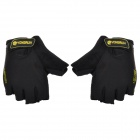 Yongruih GNT001 Elastic Half Fingers Cycling Gloves - Black (Pair / Size XL)