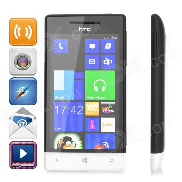 HTC A620e WP8 Dual-Core WCDMA Bar Phone w/ 4.0 Capacitive Screen, Wi-Fi and GPS - Black + White e commerce adoption a comparative study of sweden and pakistan