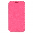 AZNS Protective PU Leather Case for Samsung i8552 - Deep Pink