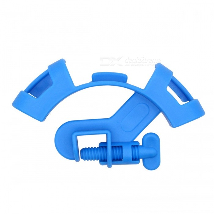 E5CQ Plastic Water Air Pipe Fixing Clamp for Fish Tank / Aquarium - Blue