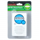 OJADE OE-1203 Mini Portable AM / FM 2-Band Radio - White + Blue (2 x AA)