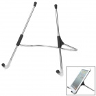 Adjustable Stainless Steel Desktop Holder Stand for Ipad + Tablet PC - Silver + Black
