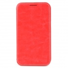 AZNS Protective PU Leather Case for Samsung i8552 - Red