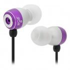 R1106 3.5mm Plug In-Ear Music Earphone - Purple + Silver + Black