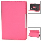 "Universal Protective PU Leather + Plastic Case for 7"" Tablet PC - Deep Pink"