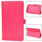 Stylish Protective PU Leather Case for Google Nexus 7 II - Deep Pink