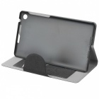 Stylish Protective PU Leather Case w/ Card Holder Slots for Google Nexus 7 II - Black