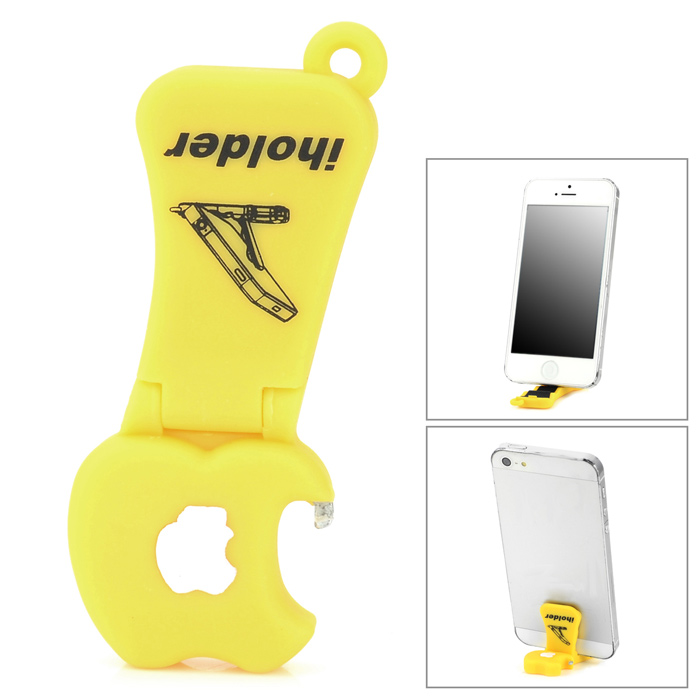 CHEERLINK  ABS Cell Phone Desktop Stand & Bottle Opener - Yellow