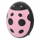 HYTJK007 Beetle Style Rechargeable 3.5mm Jack MP3 Player w/ TF Slot / Mini USB - Pink + Black