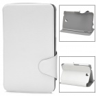Mouse Grain Protective PU Leather Case for Samsung P3200 - White