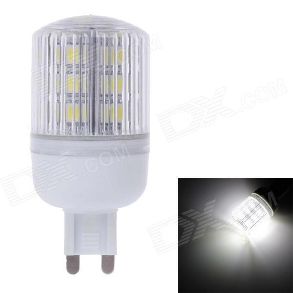 ZIYU ZY-0907 G9 5W 450lm 6500K 24-SMD LED White Light Lamp Bulb - Yellow + Silver + White (220V) ziyu zy 0814 005 7w 1200lm 470nm 120 led blue light decorative lamp strip white 12m 220 240v