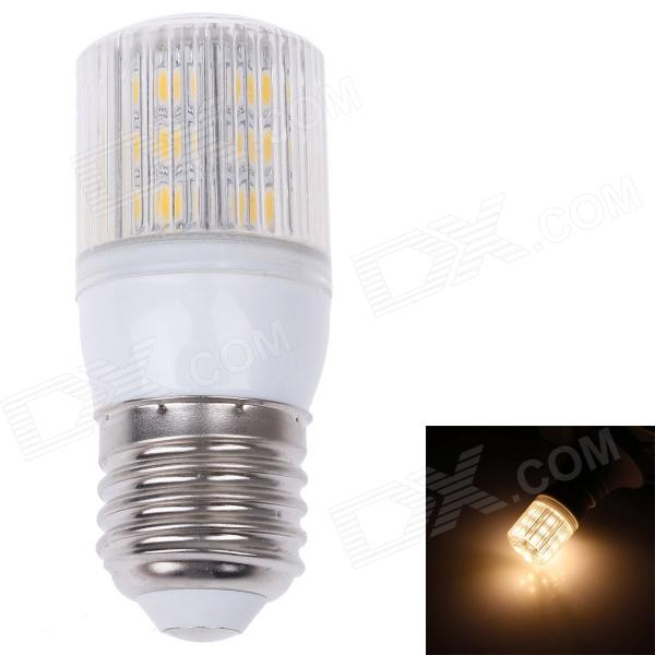 ZY-0910 E27 5W 450lm 3000K 18-SMD LED Warm White Light Lamp Bulb - Yellow + Silver + White (220V)