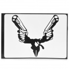 "PAG Dual Gunner Style Decoration Sticker for Macbook 13"" - Black"