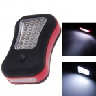 28-LED 150lm 2-Mode White Flashlight w/ Pothook / Magnetite - Black + Red (3 x AAA)