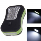 28-led 150lm 2-mode flashlight w/ pothook / magnetite - black + green (3 x aaa)