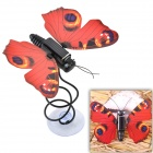 CHEERLINK DIY Creative Solar Simulation Butterfly Educational Toy - Red + Black