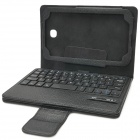 Detachable Bluetooth V3.0 60-Key Keyboard w/ PU Leather Case for Samsung Tab 3 P3200 - Black