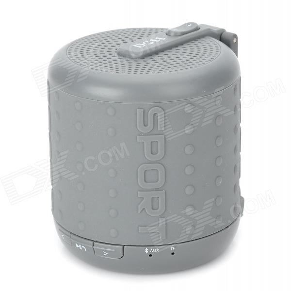 DOSS DS-1208 Bluetooth V3.0 Wireless Speaker w/ Microphone - Grey doss ds 1188s portable gesture control wireless bluetooth v2 0 edr speaker w tf black