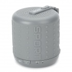 DOSS DS-1208 Bluetooth V3.0 Wireless Speaker w/ Microphone - Grey