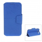 Protective Back Case + PU Leather Cover Stand for Samsung Galaxy S3 i9300 - Blue