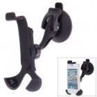 360 Degree Rotatable Car Holder Bracket w/ Suction Cup for Cellphone - Black