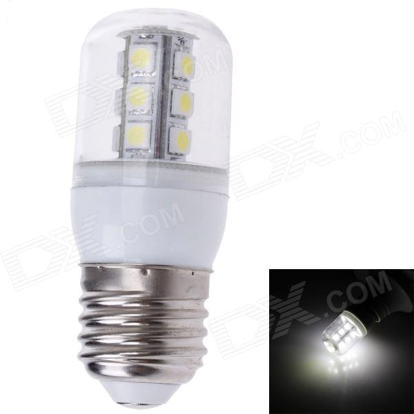ZIYU ZY-0910 E27 5W 450lm 6500K 18-SMD LED White Light Lamp Bulb - Silver + White (220V) ziyu zy 0814 005 7w 1200lm 470nm 120 led blue light decorative lamp strip white 12m 220 240v