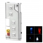 SZ-10 Stylish Sparkling Crystal Decorated Windproof Butane Gas Lighter w/ LED Light - Silver