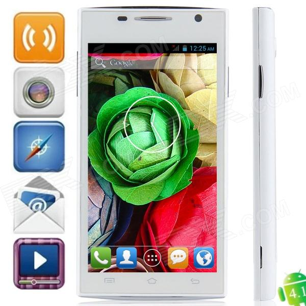 "H3038 MTK6572 Dual Core Android 4.2.2 WCDMA Bar Phone w/ 4.5"", GPS, FM and Wi-Fi - White"