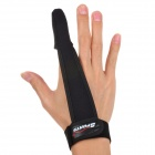 Professional Index Single Finger Bulletproof Fabric Glove for Fishing w/ Anti-slip Particle - Black