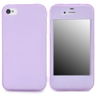 Protective TPU Case w/ Flip-Open Cover / Anti-Dust Cover for Iphone 4 / 4S - Purple