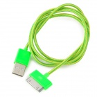 USB to 30-Pin Data / Charging Nylon Cable for iPhone 4 / 4S - Green + Yellow