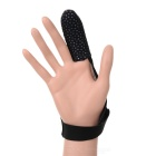 Professional Index Single Finger Bulletproof Fabric Glove for Fishing w/ Anti-slip Particle