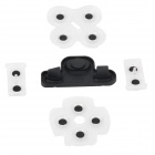 Replacement Slicone Conductive Pad Set for PS3 - Black + Transparent
