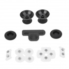 Rocker Cap w/ Silicone Cap+Conductive Pad for PS3 - Black+Transparent