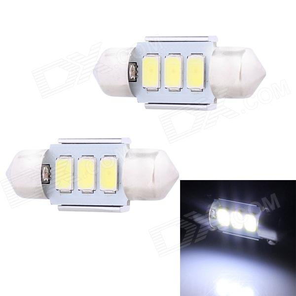 Festoon 31mm 1.5W 120lm 3 x SMD 5630 LED White Light Decoding Car Dome Reading Lamp - (12V / 2 PCS)
