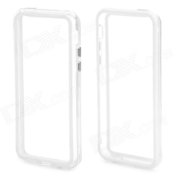 Stylish Protective ABS + Silicone Bumper Frame Case for Iphone 5C - White + Translucent White