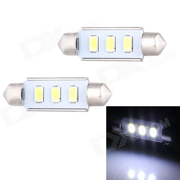 Festoon 42mm 1.5W 120lm 3 x SMD 5630 LED White Light Decoding Car Dome Reading Lamp (12V / 2 PCS) new lcd display matrix 7 inch al0259a tablet 1024 600 lcd screen panel parts 165 100mm free shipping