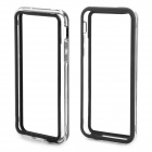 Fashion Protective Plastic Bumper Case for Iphone 5C - Black + Transprent White