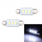 Festoon 39mm 1.5W 120lm 3 x SMD 5630 LED White Light Decoding Car Dome Reading Lamp - (12V / 2 PCS)