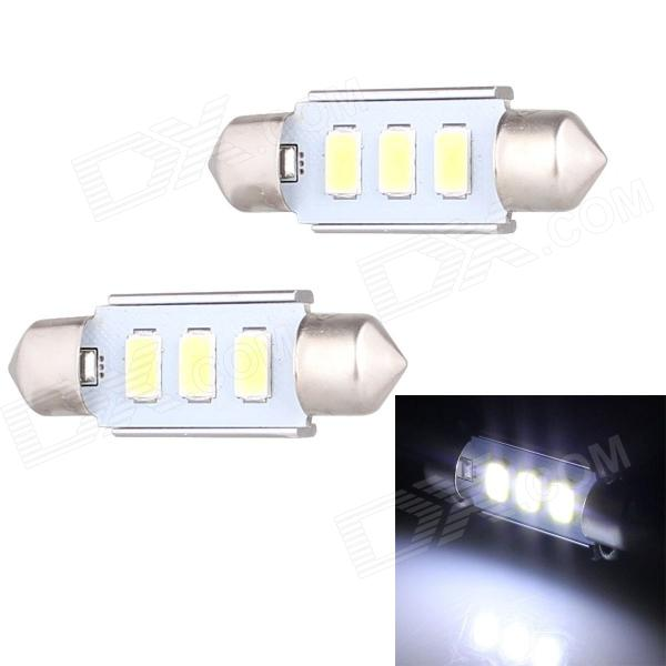 Festoon 36mm 1.5W 120lm 3 x SMD 5630 LED White Light Decoding Car Dome Reading Lamp - (12V / 2 PCS) Charleston Prices for the announcement