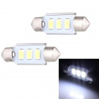 Festoon 36mm 1.5W 120lm 3 x SMD 5630 LED White Light Decoding Car Dome Reading Lamp - (12V / 2 PCS)