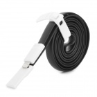 USB 2.0 to 8-Pin Lightning Data/Charging Flat Cable for iPhone 5 - Black + White