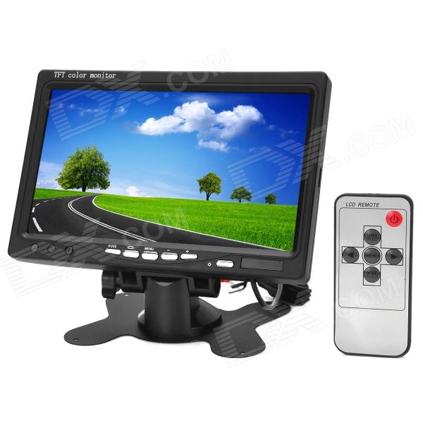 7 TFT LCD Digital 2-CH Rearview Monitor w/ Remote Controller (PAL / NTSC) 7 lcd rearview monitor w remote controller black pal ntsc