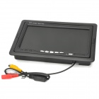 "7"" TFT LCD Digital 2-CH Rearview Monitor w/ Remote Controller - Black"
